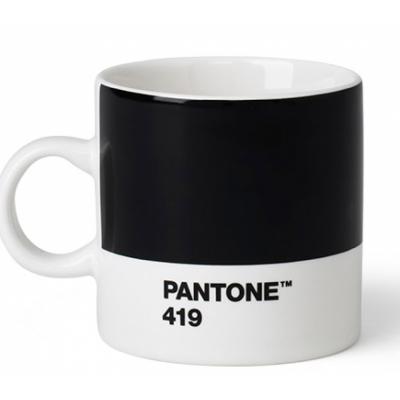 Pantone - Porzellan Espressotasse Black 419