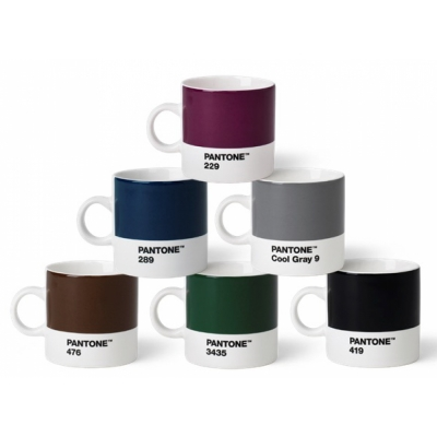 Pantone - Porzellan Espressotassen-Set (6 Stück)