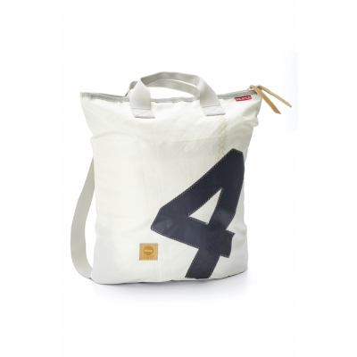 360 Grad - Ketsch sac à dos Blanc / nombre gris