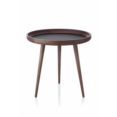 applicata - Tisch Table Ø 49 cm | Smoked Oak / Black