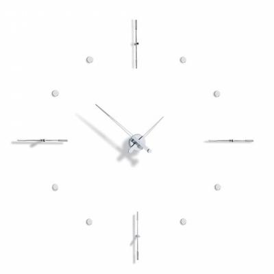 Nomon - Mixto Wanduhr Chrom | Schwarz | 110cm