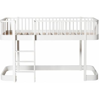 Oliver Furniture   Wood Halbhohes Hochbett 90 X 200 Cm Leiter Vorne