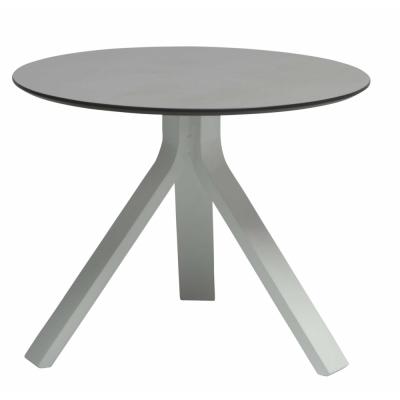 Stern - Freddie Beistelltisch Ø 55 cm Weiß Tischplatte: Dekor Uni Grau
