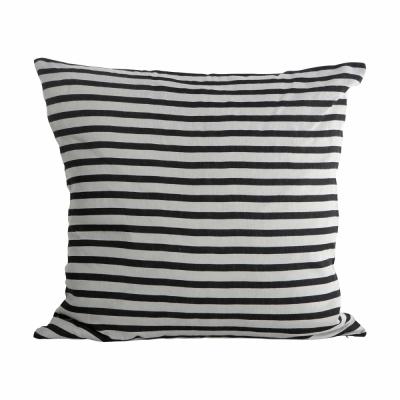 House Doctor - Stripe coussin Noir