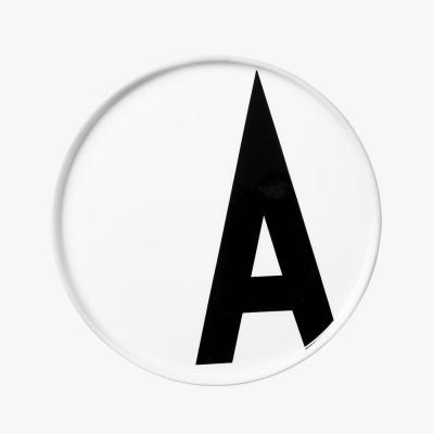 Design Letters - AJ Porcelain Plate A
