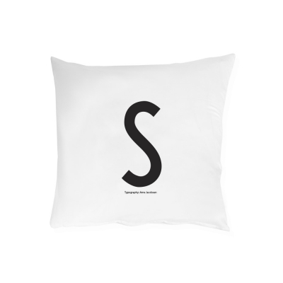 Design Letters - Pillowcase  A - Z S | 60 x 50 cm