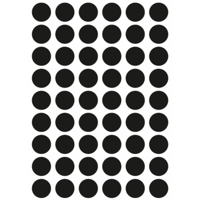 Ferm Living - Mini Dots Wandsticker Schwarz