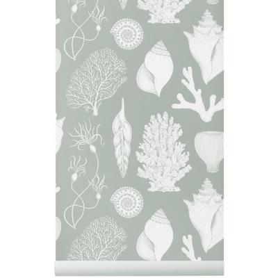 Ferm Living Katie Scott Wallpaper Shells Aqua