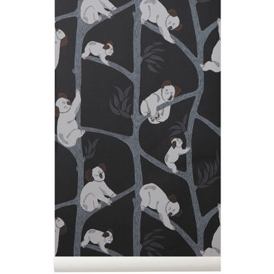 Ferm Living - Koala Wallpaper - Dark Green