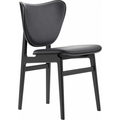 Norr11 - Elephant Dining Chair Gestell schwarz, Leder