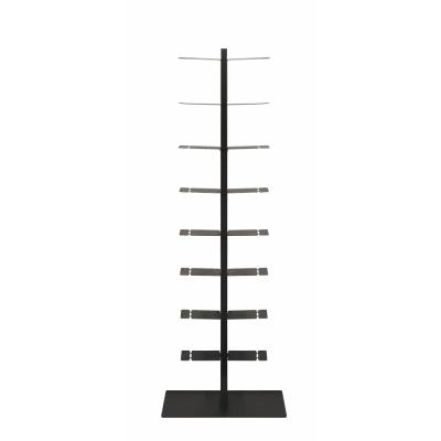 Radius - Booksbaum Bücherregal mit Fußgestell Doppelt   Schwarz   170cm