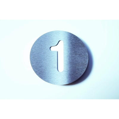 Radius - Letterman House Number White | 1