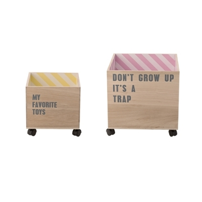 Bloomingville - Child Storage Box with Wheels 8