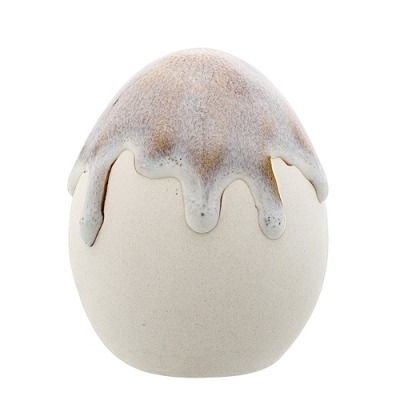 Bloomingville - Deco Egg 11 Deko Ei Grau