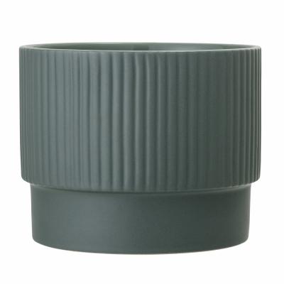 Bloomingville - Flowerpot Green Stoneware