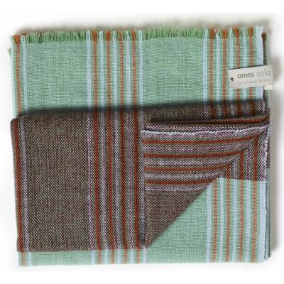 Ames - Mulera Woolen Blanket Green/Lachs/Vino