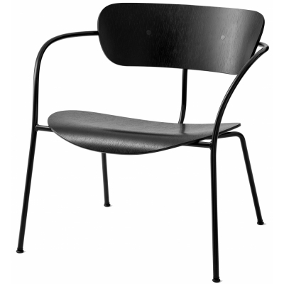 &tradition - Pavilion AV5 Loungestuhl Eiche schwarz lackiert