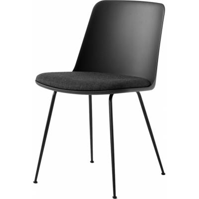 &tradition - Rely HW7 Stuhl mit Kunststoffschale und Sitzkissen