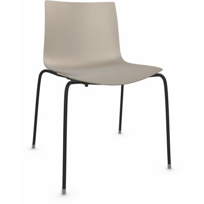 Arper - Catifa 46 0251 Chair unicoloured Dove Grey | Black