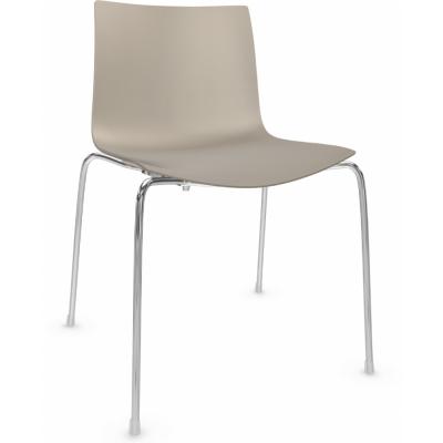 Arper - Catifa 46 0251 Chair unicoloured Dove Grey | Chrome