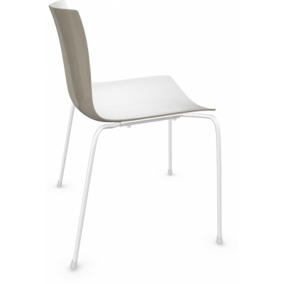 Arper - Catifa 46 0251 Chair bicoloured White-Dove Grey | White