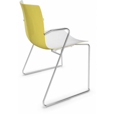 Arper - Catifa 46 0287 Technical Sled Base Chair bicoloured