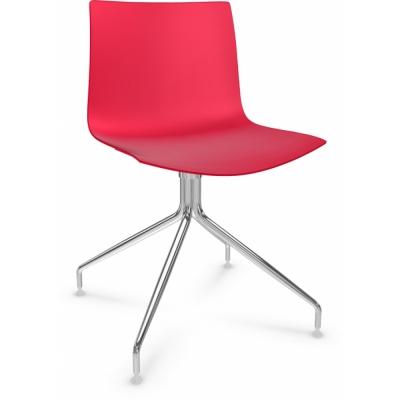Arper - Catifa 46 0257 / 0357 chaise pied étoile chromé mono