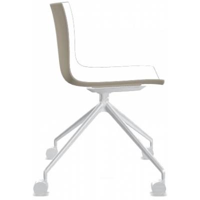 Arper - Catifa 46 0369 Stuhl mit Rollen fest zweifarbig
