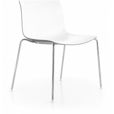 Arper - Catifa 53 0201 Stuhl Weiß | Verchromt