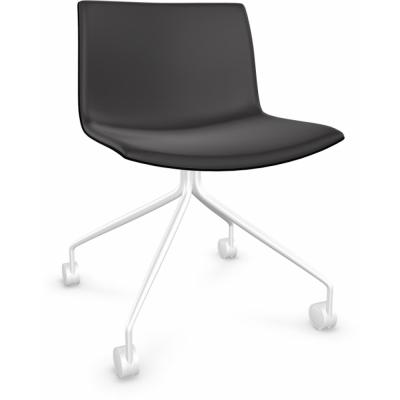 Arper - Catifa 53 0219 Stuhl mit Rollen fest chrom