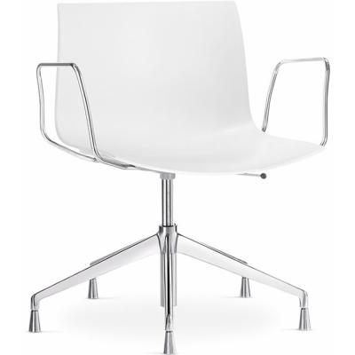 Arper - Catifa 53 0233 Armlehnstuhl fünfstrahlig Weiß