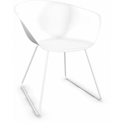 Arper - Duna 02 4200 Kufenstuhl Weiß | Weiß
