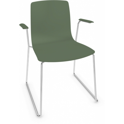 Arper - Aava 3946 Chair Sled Base with Armrests