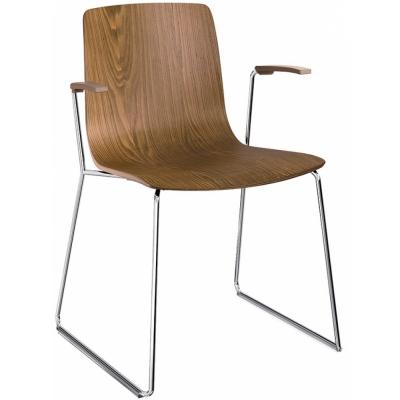 Arper - Aava 3909 chaise luge en bois avec accoudoirs