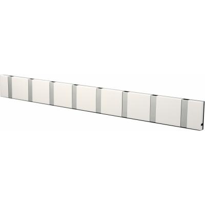 LoCa - Knax Garderobenleiste 8 Haken Weiß   Grau