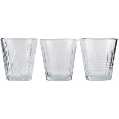 House Doctor - Wasserglas, Vintage, 6 Stk./Pkg., 3 verschiedene Designs