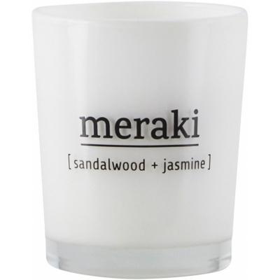Meraki - Scented Candle Sandalwood & Jasmine 12 h burning time