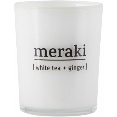 Meraki - Duftkerze White Tea & Ginger 12 Stunden Brenndauer