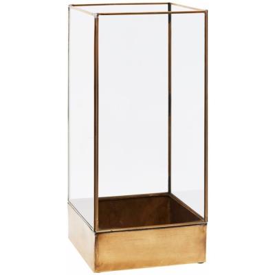 House Doctor - Plant Display Box 21 x 21 x H 45 cm | Antique Brass