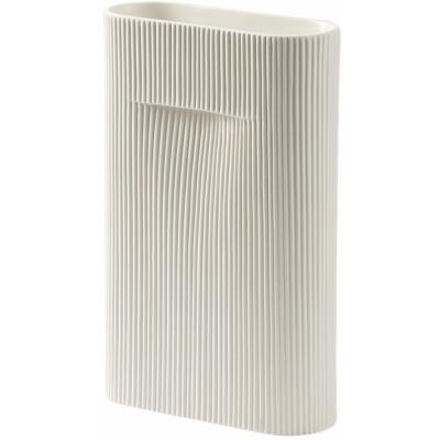 Muuto - Ridge Vase Height 35   Off-White