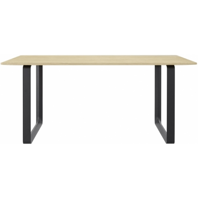 Muuto - 70/70 Table chêne massif 170x85 cm Chêne massif / Noir