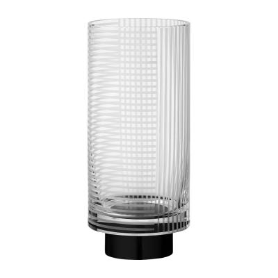 AYTM - Vitreus Vase Clear / Black / Ø11xH25,5 cm