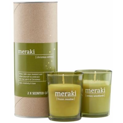Meraki - Duftkerze Limited Christmas Edition (2er Set)