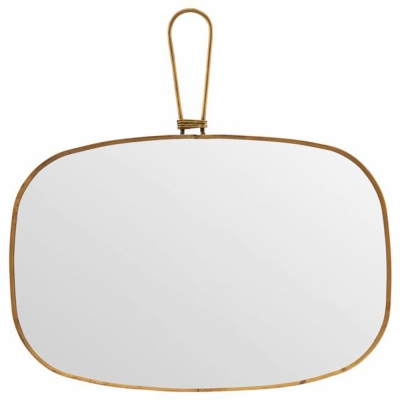Meraki - Mirror, Antique brass 30x20 cm