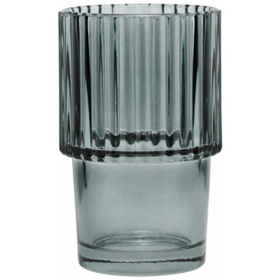 House Doctor - Rills Glas, Rauchgrau