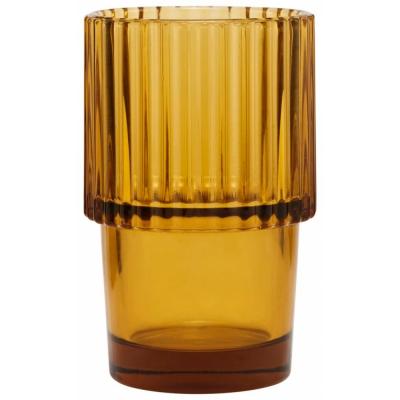 House Doctor - Rills Glas, Amber, Braun