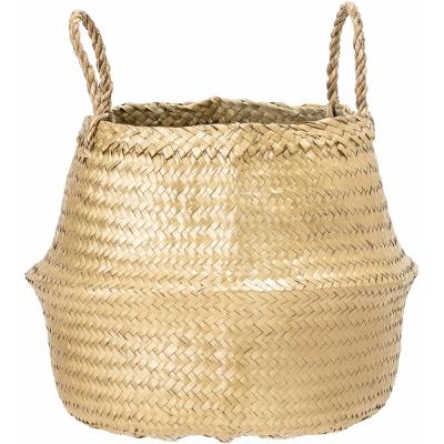 Bloomingville - Basket 102, Gold, Seagrass
