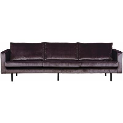 BePureHome - Rodeo Samt Sofa 3-Sitzer Dunkelgrau