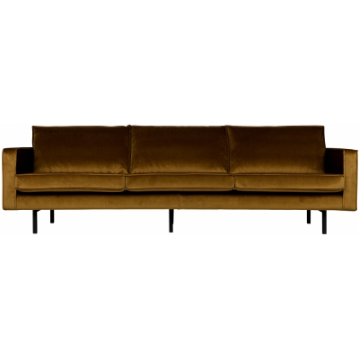 BePureHome - Rodeo Samt Sofa 3-Sitzer Honiggelb
