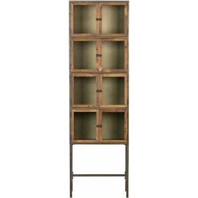 BePureHome - Box Metallschrank mit Holztüren
